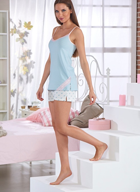 Sevim Pijama Takım Mavi